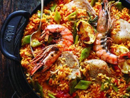 Gas dish Paella Pescador - Abinger Cookery School